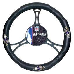 Baltimore Ravens Car Truck Black Steering Wheel Cover NFL