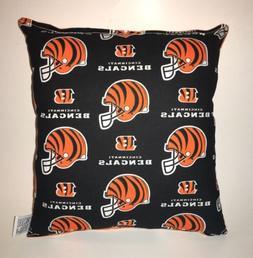 Bengals Pillow Cincinnati Bengals NFL Pillow Handmade in USA