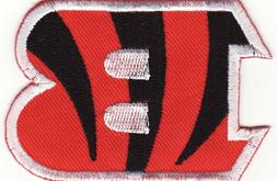 """Cincinnati Bengals 3"""" Embroidered Iron On Patch *New*"""