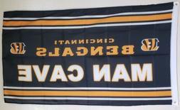 Cincinnati Bengals Banner 3x5 Ft Flag Banner Man Cave Gift F