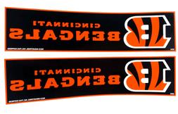 cincinnati bengals bumper sticker viny decal set