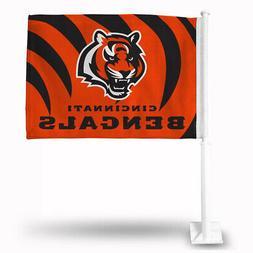 Cincinnati Bengals Car Flag 12 x 15 Double Sided All Pro Des
