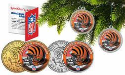 CINCINNATI BENGALS Colorized JFK Half Dollar 2-Coin Set NFL