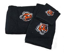 Cincinnati Bengals 3 PC Embroidered Bath Towel Gift Set