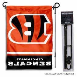 Cincinnati Bengals Garden Flag and Yard Stand Included