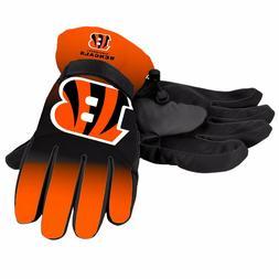 Cincinnati Bengals Gloves Big Logo Gradient Insulated Winter