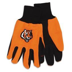 Cincinnati Bengals Gloves Non Slip Work Utility Adult NFL Fo