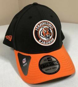 Cincinnati Bengals Hat Adult Large XL New Era NFL Black Base