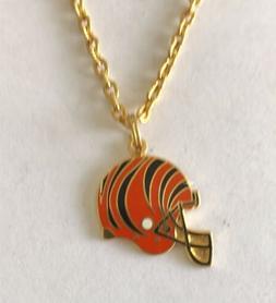 Cincinnati Bengals Helmet Petite Charm Necklace  NFL License