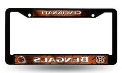 Cincinnati Bengals LBL Black Plastic Frame License Plate Tag