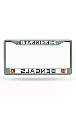 Cincinnati Bengals Logo Metal Chrome License Plate Tag Frame