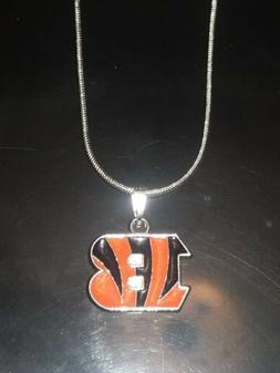 Cincinnati Bengals Logo Necklace Pendant NFL Football Sterli