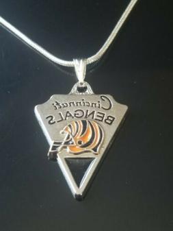 Cincinnati Bengals Necklace Pendant NFL Football Sterling Si
