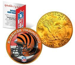 CINCINNATI BENGALS NFL LICENSED 24K Gold Plated IKE Eisenhow