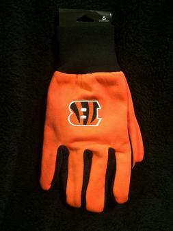 Cincinnati Bengals Orange B Utility Gloves Tufted OSFA  NEW