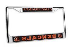 Cincinnati Bengals PV Chrome Frame Metal License Plate Tag C