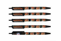 Cincinnati Bengals Retractable Click Pens - 5 Pack