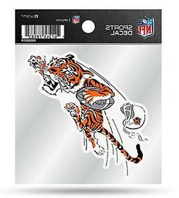 Cincinnati Bengals Retro Logo Premium 4x4 Decal Clear Backin