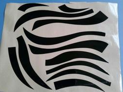 Cincinnati Bengals tiger stripes football helmet decals set
