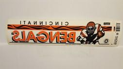 CINCINNATI BENGALS  Vintage Team Bumper Sticker  Decal Strip