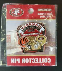 Cincinnati Bengals VS San Francisco 49ers Game Day Pin 9/20/