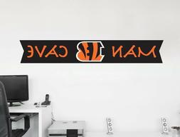 Cincinnati Bengals Wall Decal NFL Logo Vinyl Big Design Man