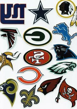 NFL Football Decal Sticker Team Logo Designs Licensed Choose