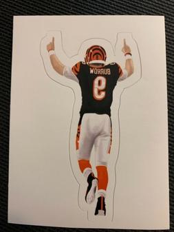 "Joe Burrow 4"" x 2"" Cincinnati Bengals NFL Decal Sticker Foot"