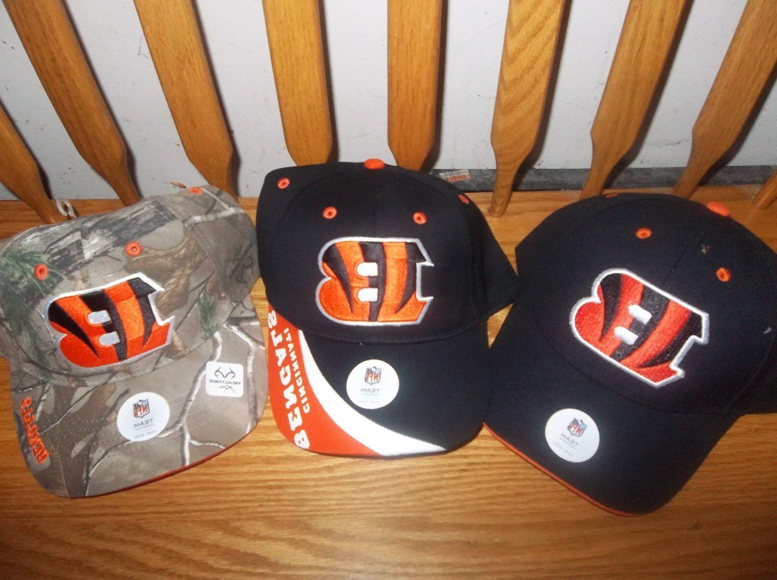 3 cincinnati bengals baseball caps 3 different