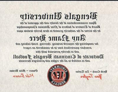 bengals cincinnati bengals football fan certificate man