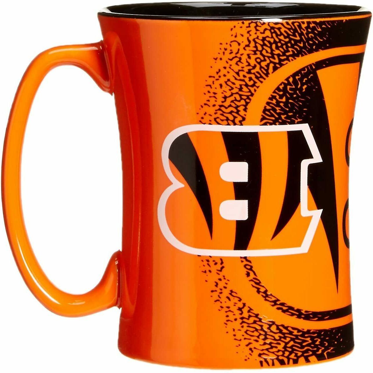 cincinnati bengals 14oz coffee mug mocha style