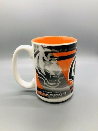 cincinnati bengals 15oz shadow style coffee mug