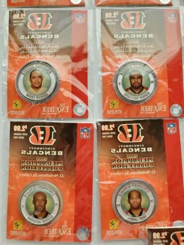 Cincinnati 2006 Collectible Medallions Complete Set 22 NFL