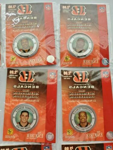 Cincinnati Medallions 22 NFL Players Coins