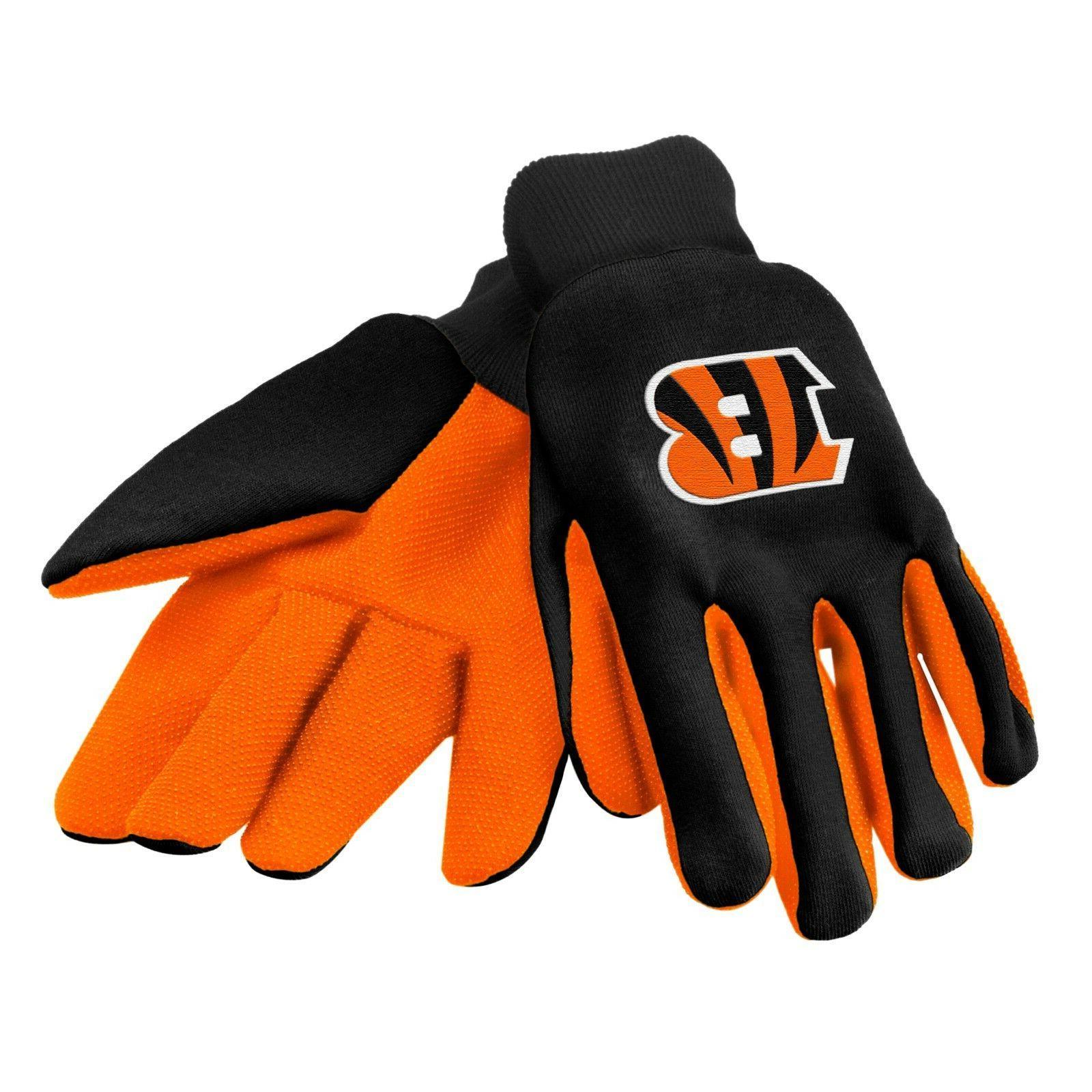 cincinnati bengals gloves sports logo utility work