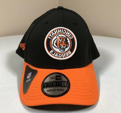 Cincinnati Bengals Hat Large New NFL Black Baseball