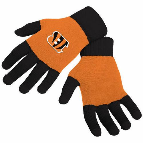 cincinnati bengals stretch knit gloves with texting