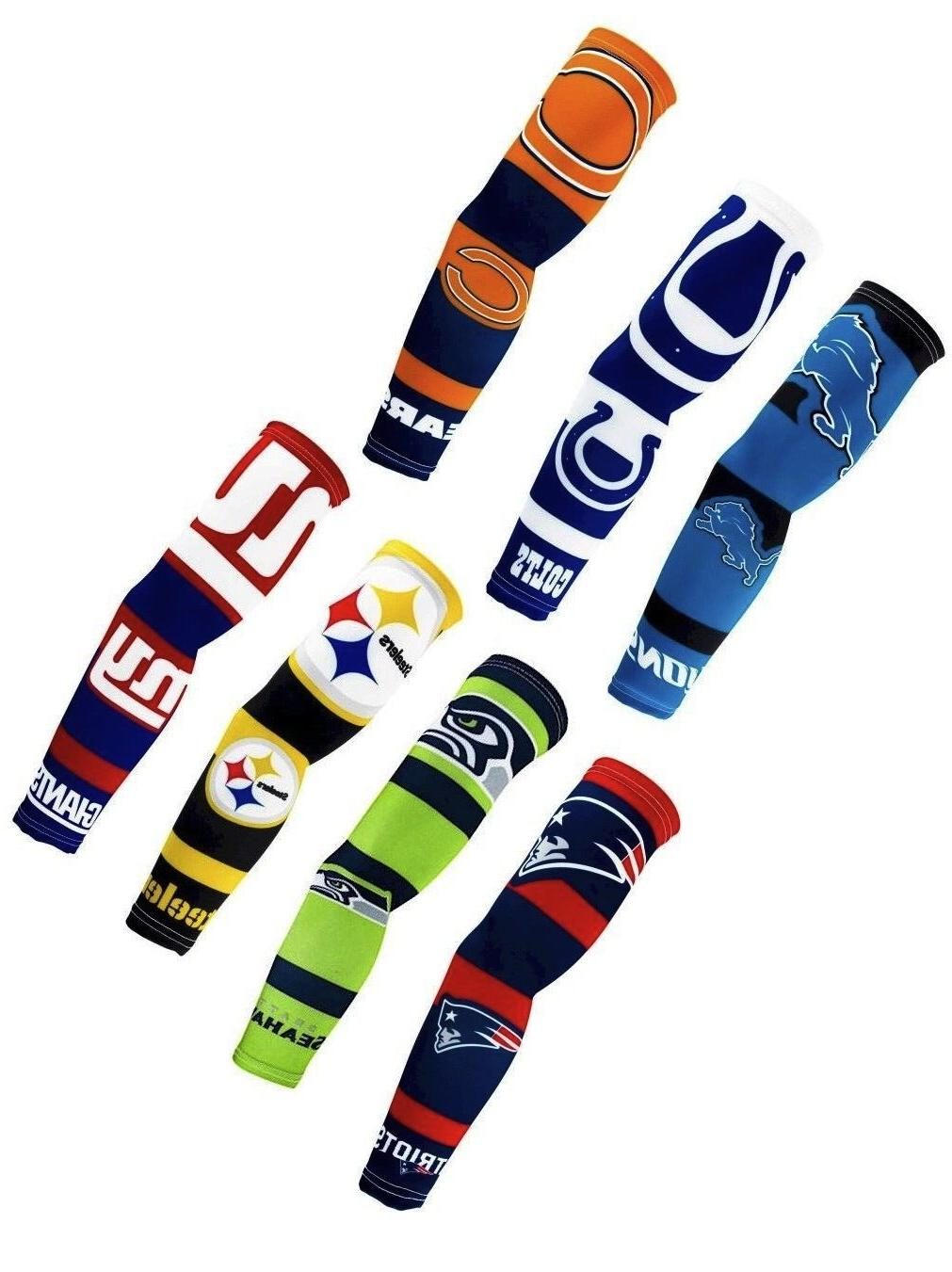 new pair nfl team strong arms sleeve