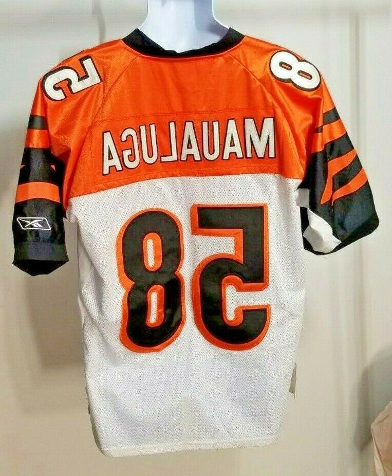 NFL Reebok #58 Maualuga Bengals Jersey