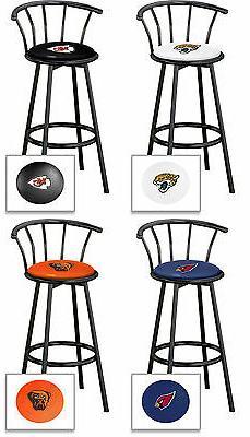 bar stool w back nfl team logo