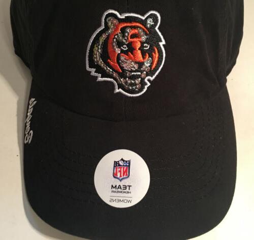 NWT Bengals Adjustable Sequined Baseball Hat/Cap NFL Licensed
