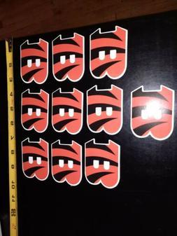 Lot of 10 Cincinnati Bengals NFL Football Decal Sticker Team