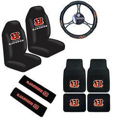 New NFL Cincinnati Bengals Car Truck Seat Covers Steering Wh