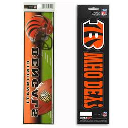 New NFL Cincinnati Bengals Die-Cut Vinyl Slogan Decal and Bu