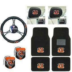 NFL Cincinnati Bengals Car Truck Floor Mats Steering Wheel C