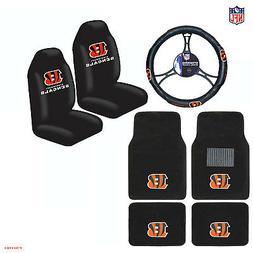 NFL Cincinnati Bengals Car Truck Seat Covers Floor Mats Stee
