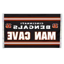 NFL Cincinnati Bengals Man Cave Flag with 4 Grommets, 3 x 5-