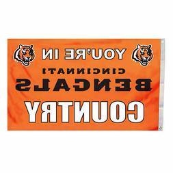 NFL Cincinnati Bengals In Country Flag with Grommets, 3 x 5-
