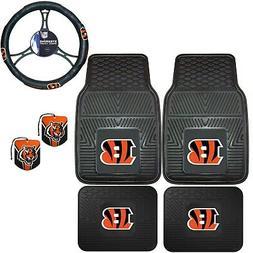 NFL Cincinnati Bengals Floor Mats Steering Wheel Cover & Air
