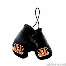 "NFL Cincinnati Bengals 4"" Mini Boxing Gloves Rearview Mirror"